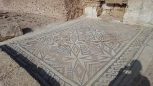 Beautiful mosaic floors.